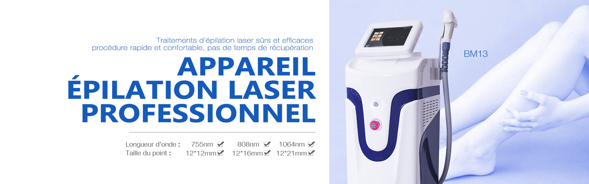 Machine d'épilation de laser de la diode 808nm BM13 11.16
